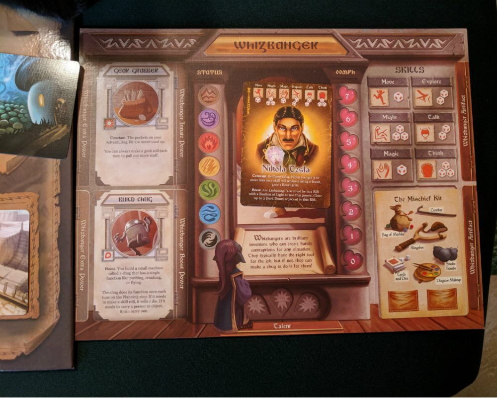 Whizbanger board and card