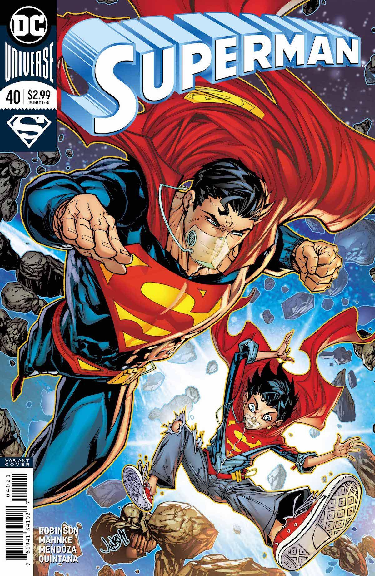 Superman #40 cover Jon Kent