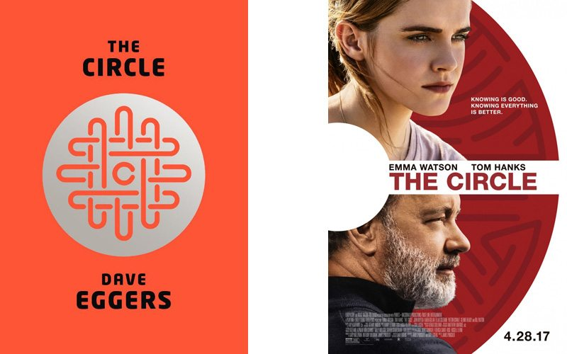The Circle book cover and film poster