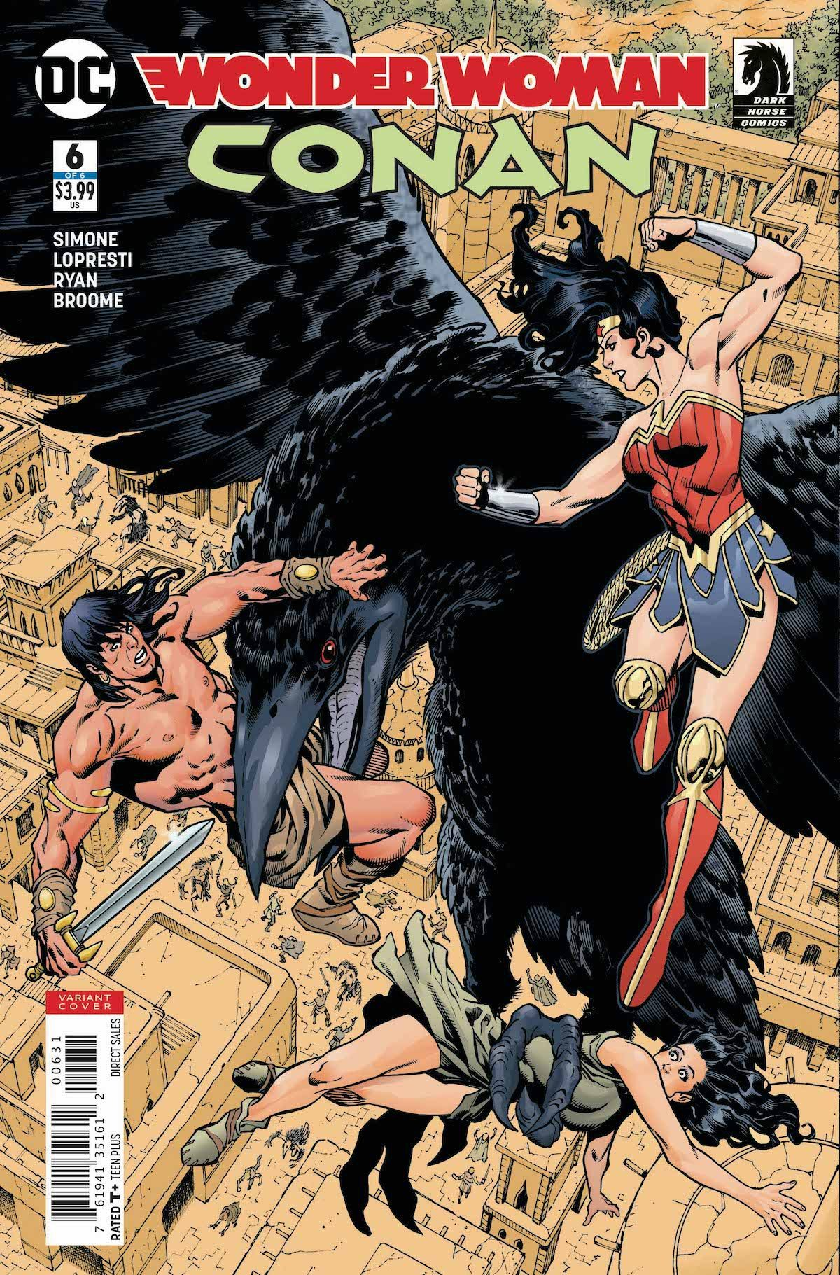Wonder Woman/Conan #6 Lopresti variant cover
