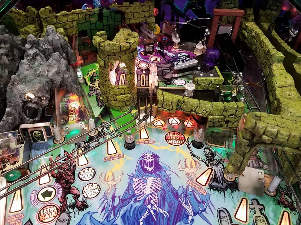 Alice Cooper's Nightmare Castle pinball playfield