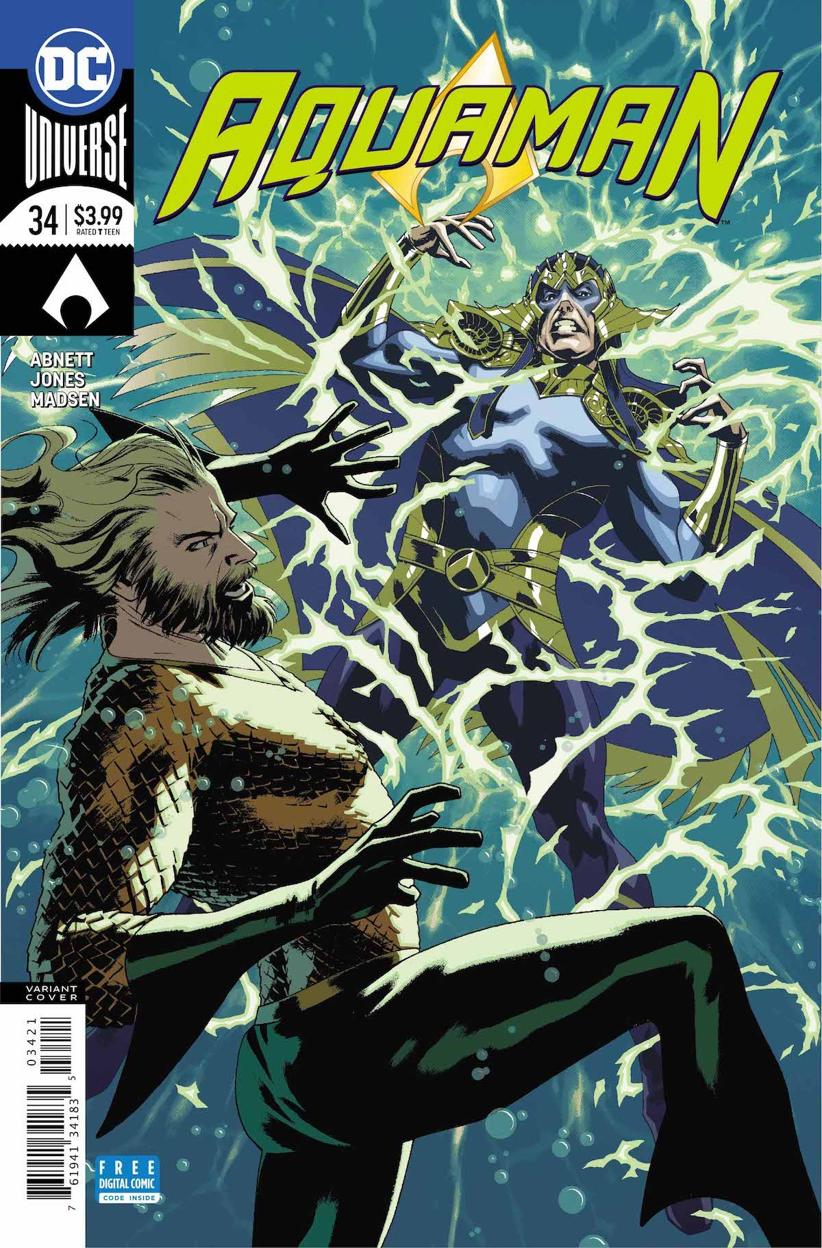 Aquaman #34 variant cover