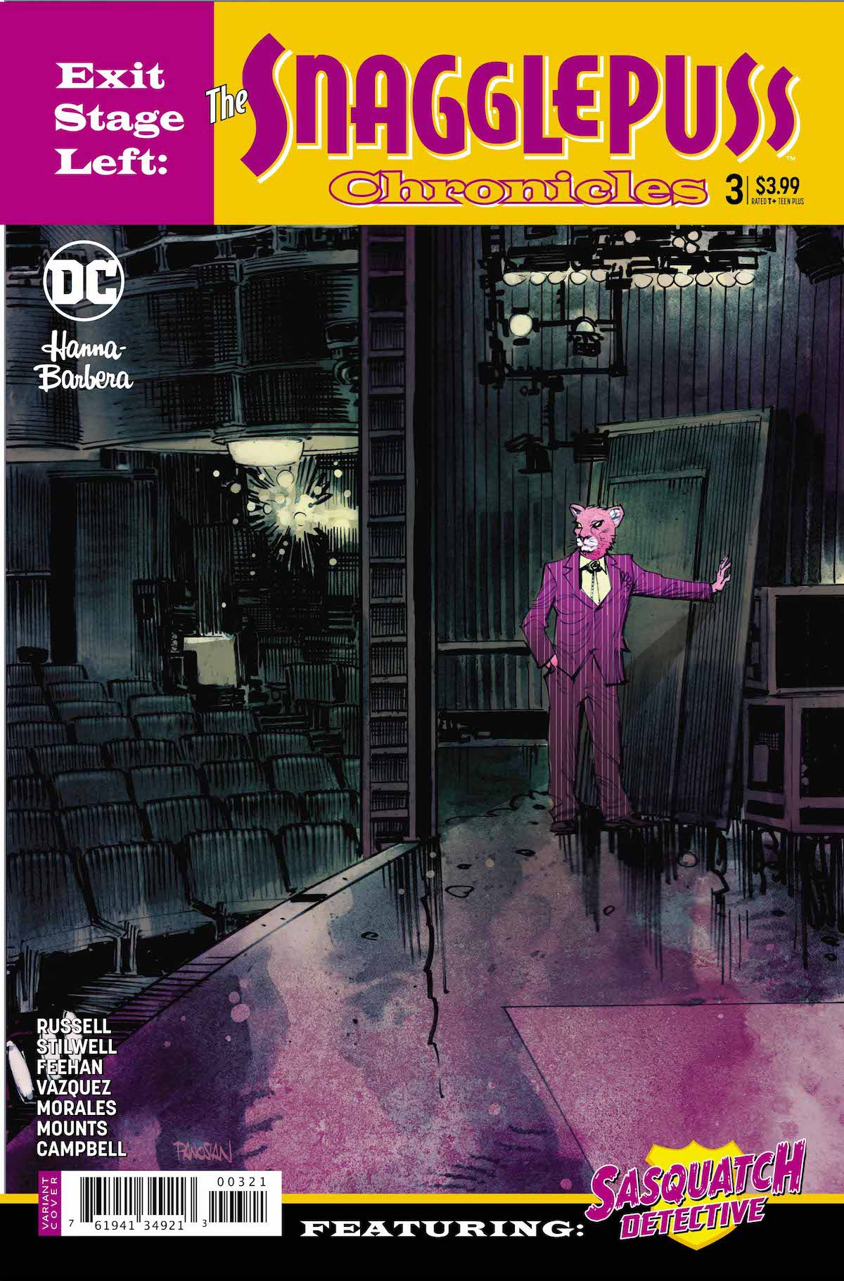 Snagglepuss Chronicles #3 variant cover