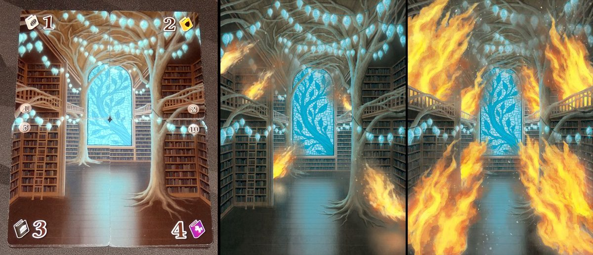 Fire in the Library - library image