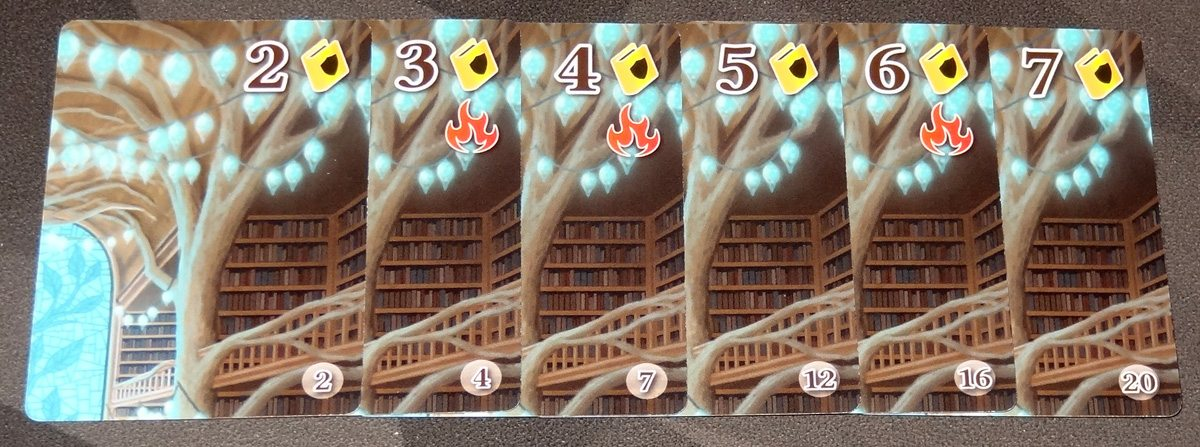 Fire in the Library yellow book cards