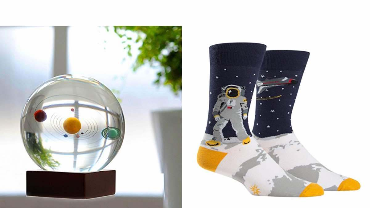 Geek Daily Deals 030918 solar system globe space socks