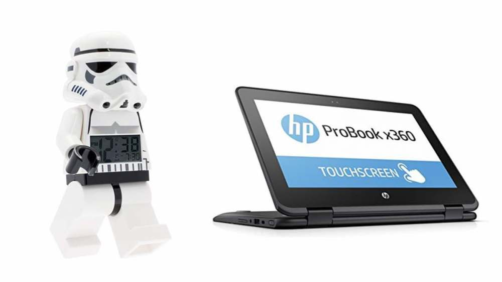 Geek Daily Deals 031418 stormtrooper clock HP convertible computer