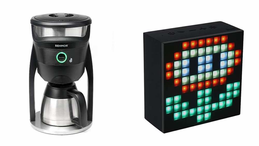 Geek Daily Deals 032118 connected coffee maker LED speaker