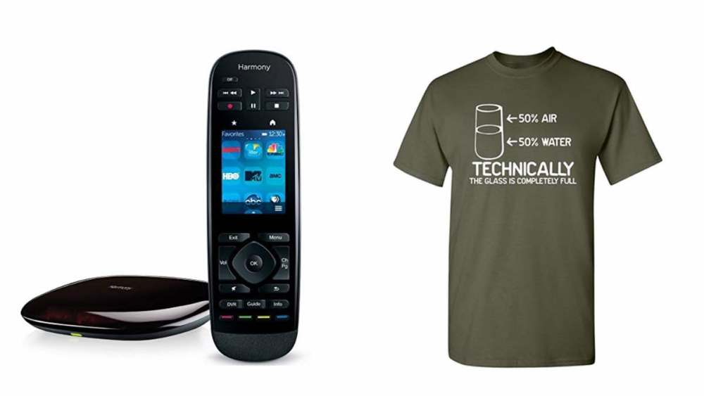 Geek Daily Deals 032218 logitech harmony ultimate funny shirt