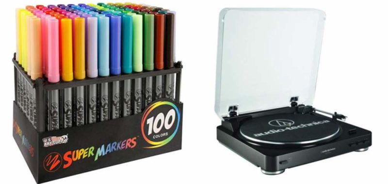 Geek Daily Deals 032518 colored markers turntable