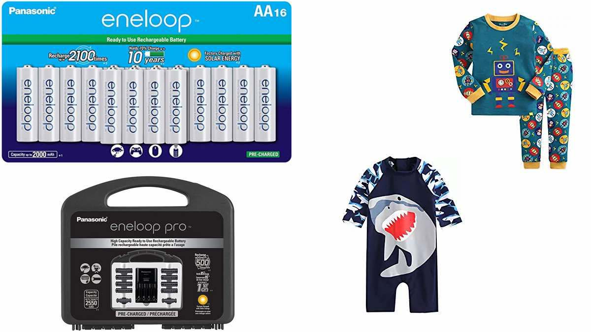 Geek Daily Deals 032918 rechargeable batteries kids swimwear pajamas