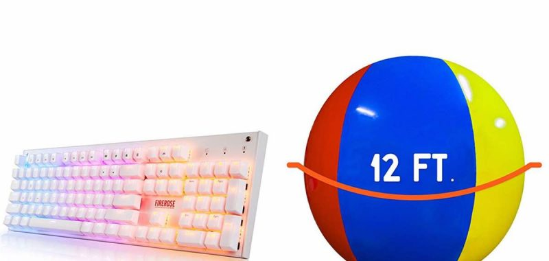Geek Daily Deals 040118 LED keyboard giant beach ball