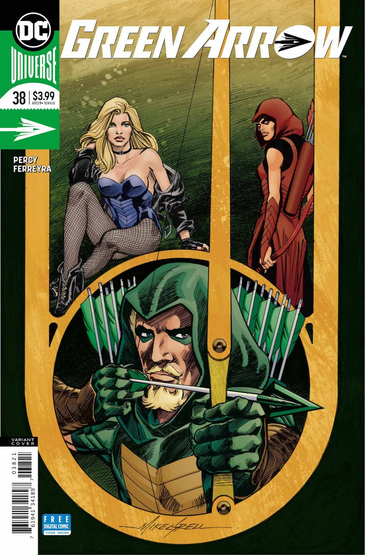Green Arrow #38 variant cover