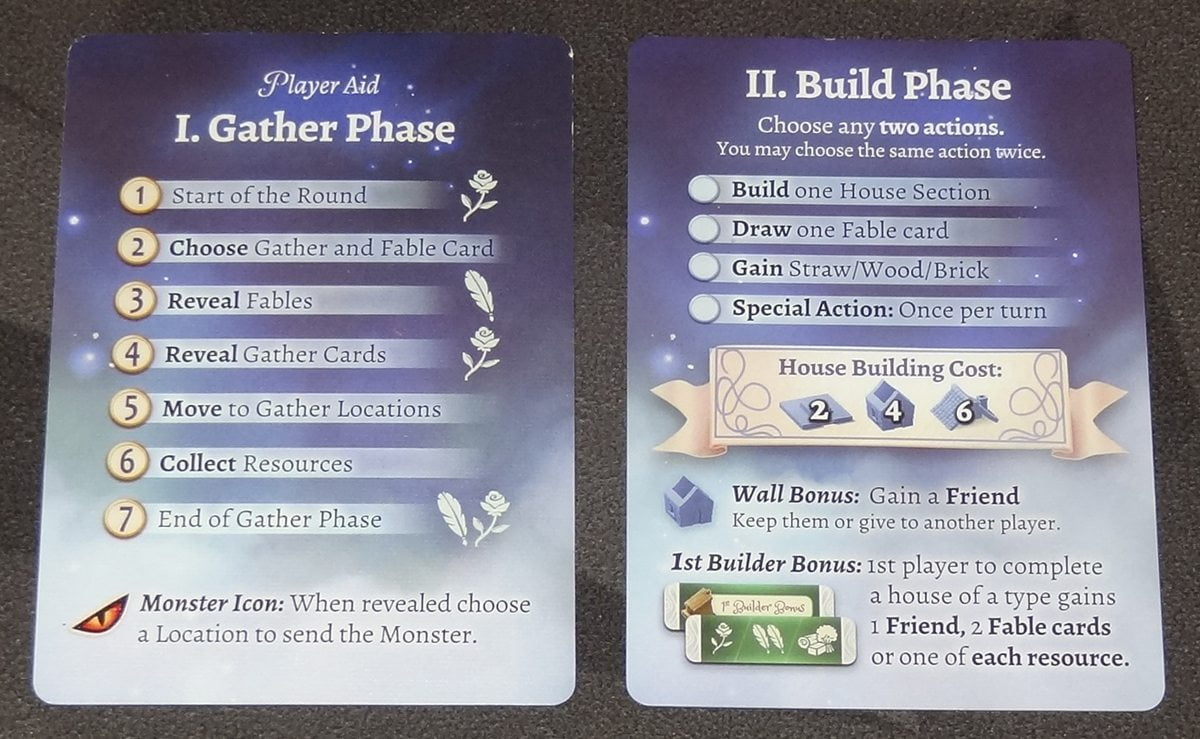 The Grimm Forest player aid cards