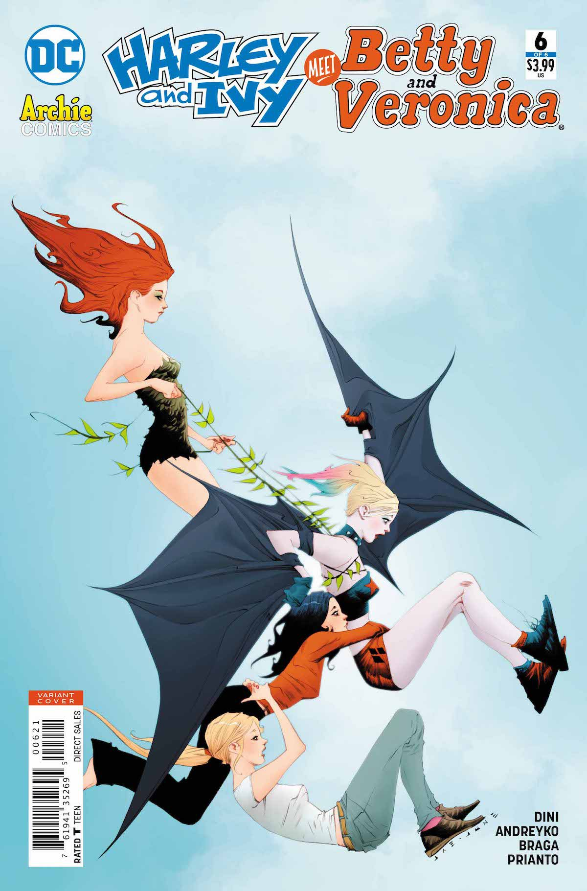 Harley and Ivy Meet Betty and Veronica #6 variant cover