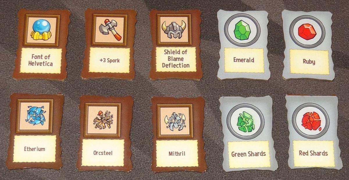 Heroes Welcome Loot/Material tokens