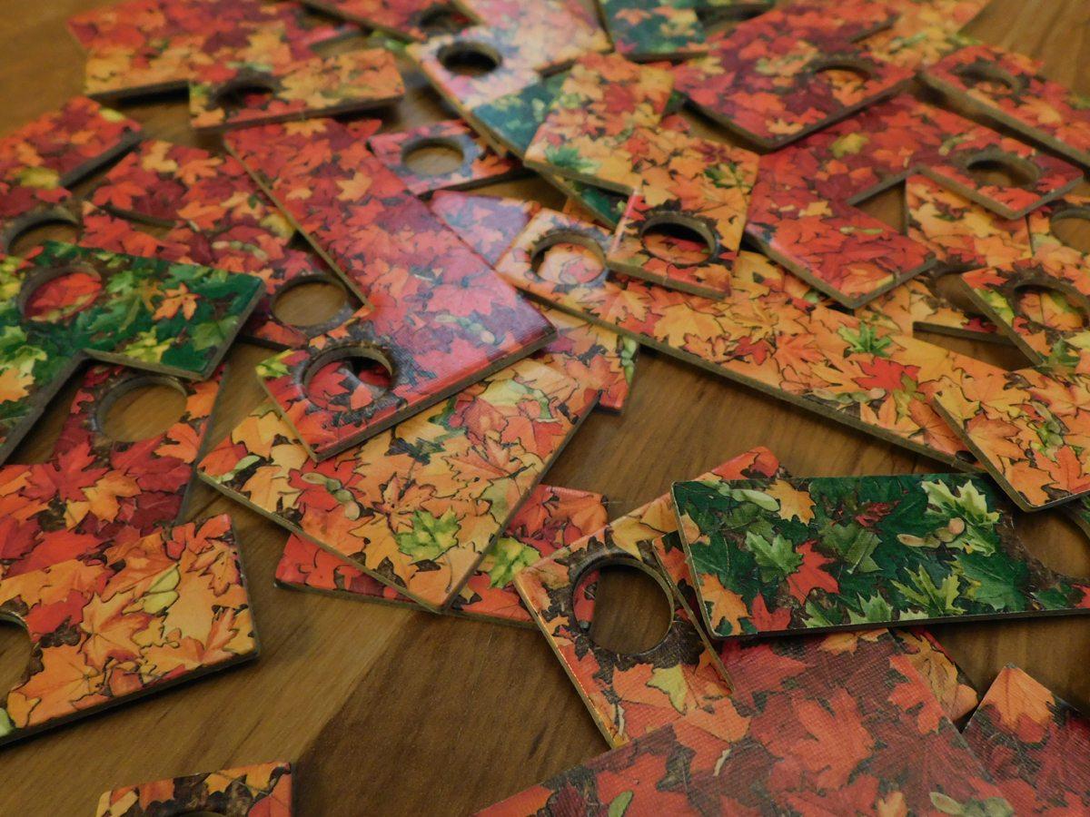 Indian Summer leaf tiles