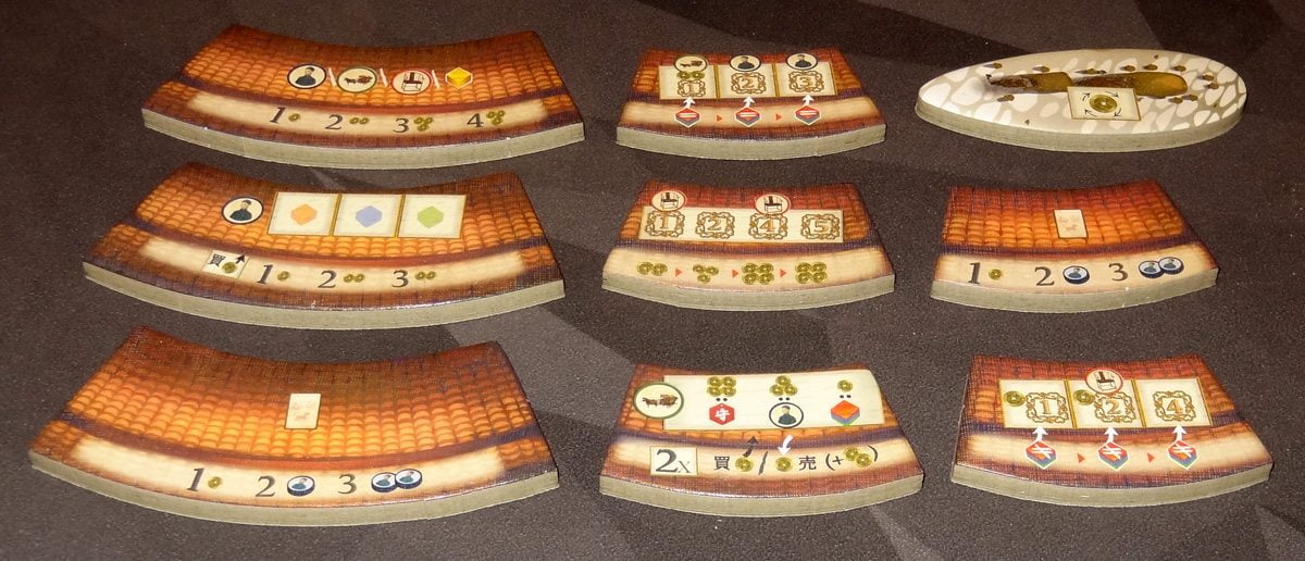 Round House action tiles and traveling merchant tile