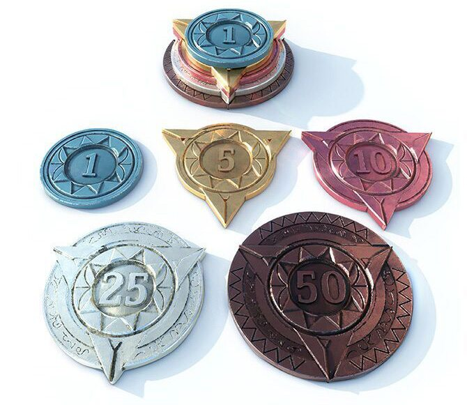 Sorcerer City metal prestige tokens