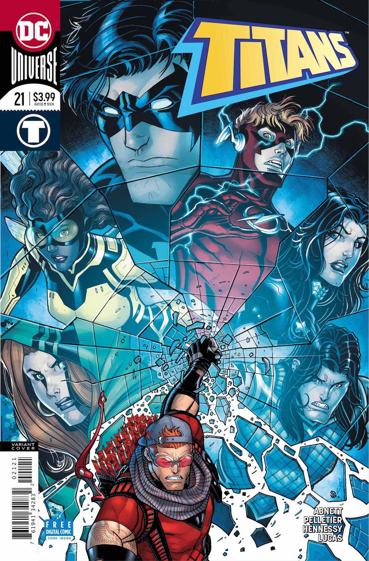 Titans #21 variant cover