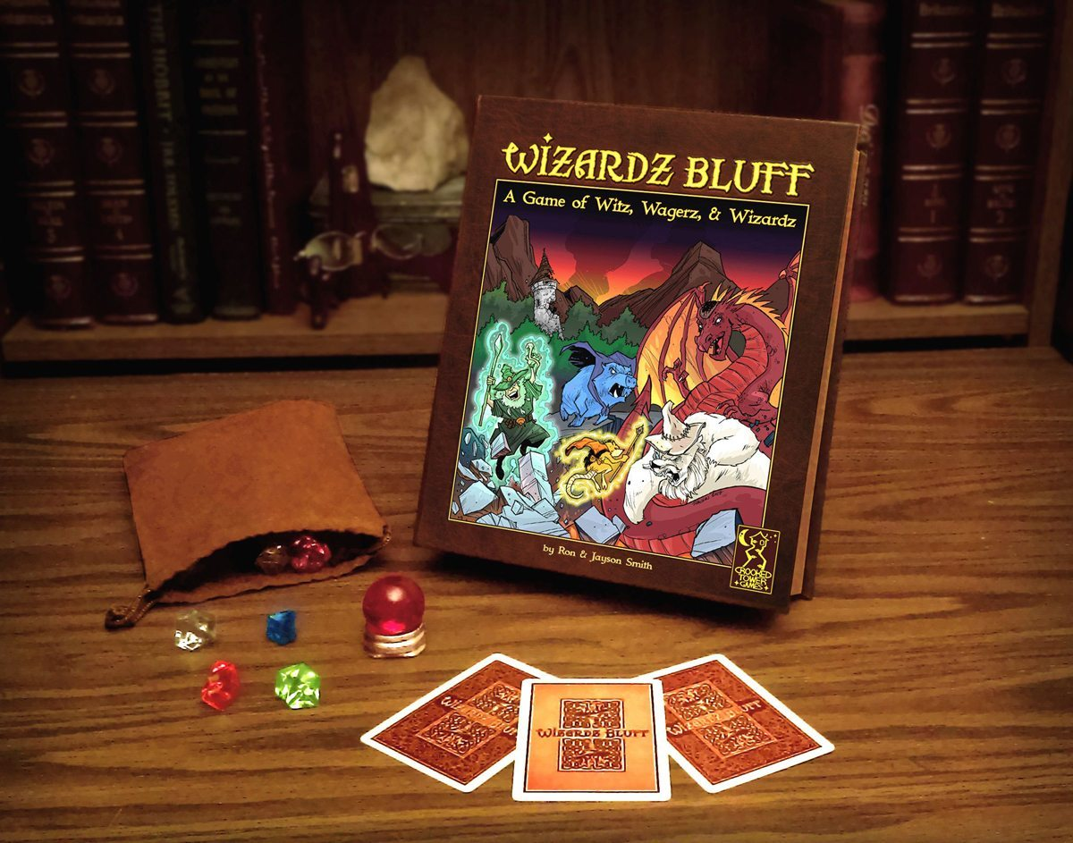 Wizardz Bluff box and components