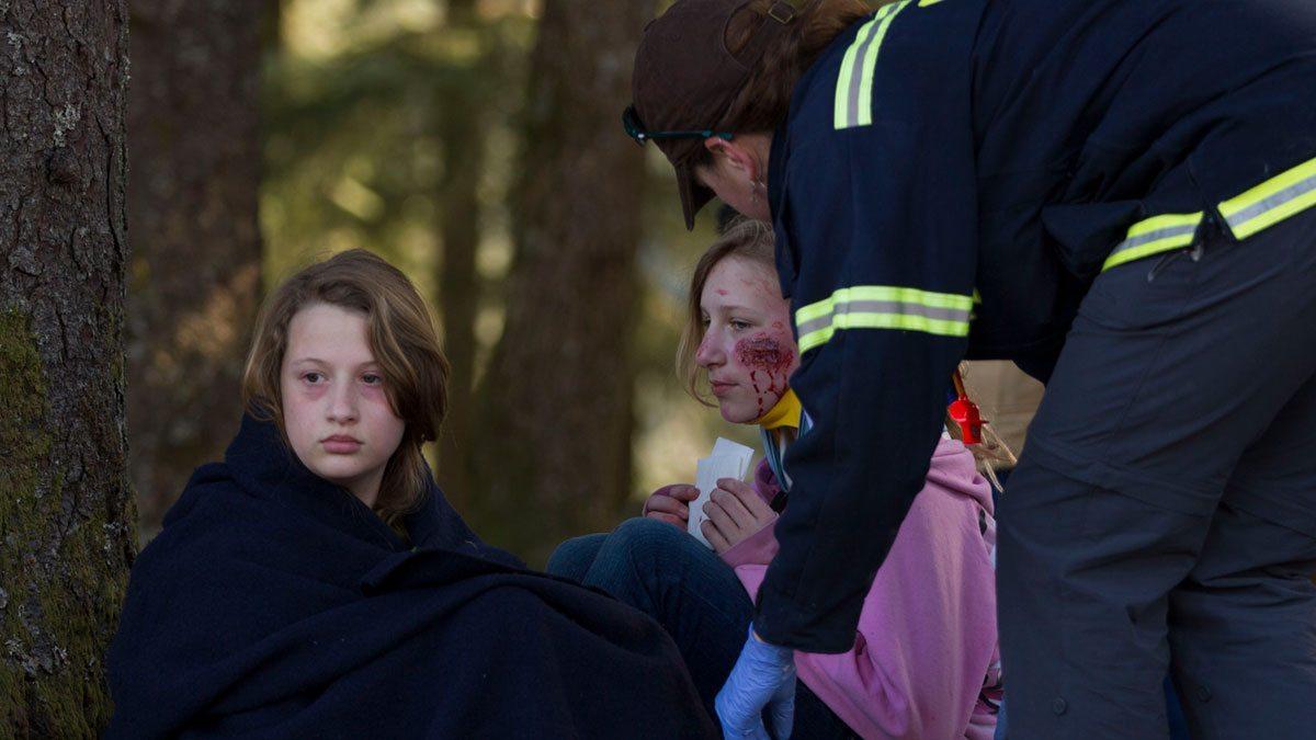 Girl Scouts participate in disaster preparedness drill