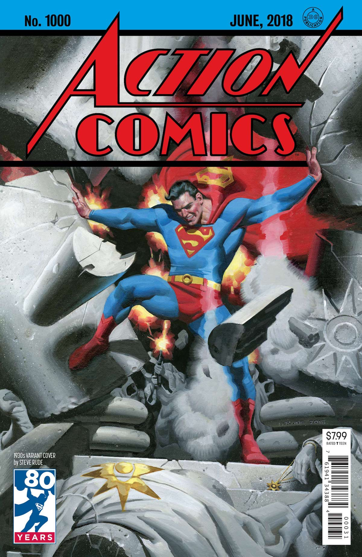 Action Comics 1,000 Steve Rude variant cover