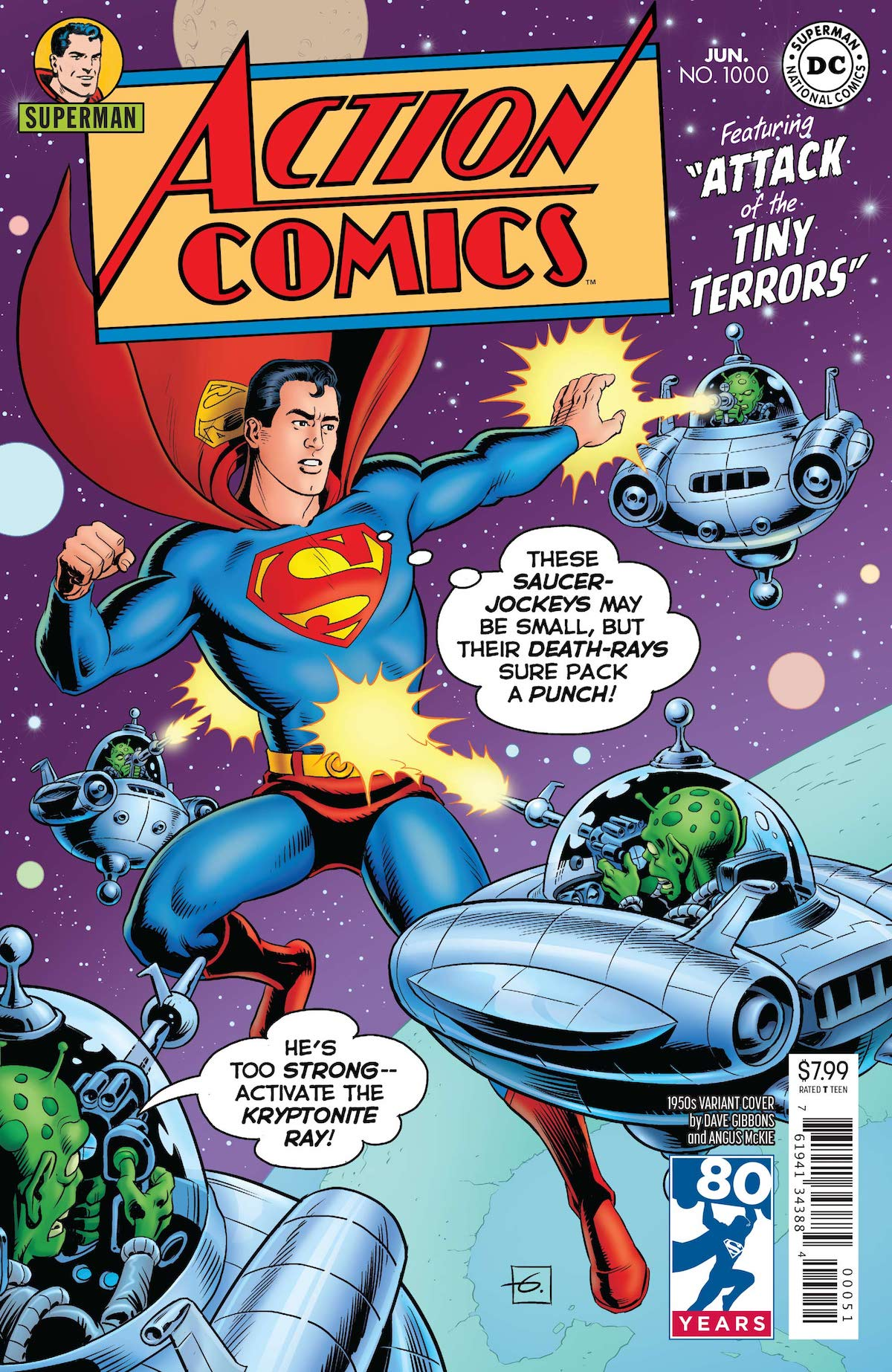 Action Comics 1,000 Dave Gibbons variant