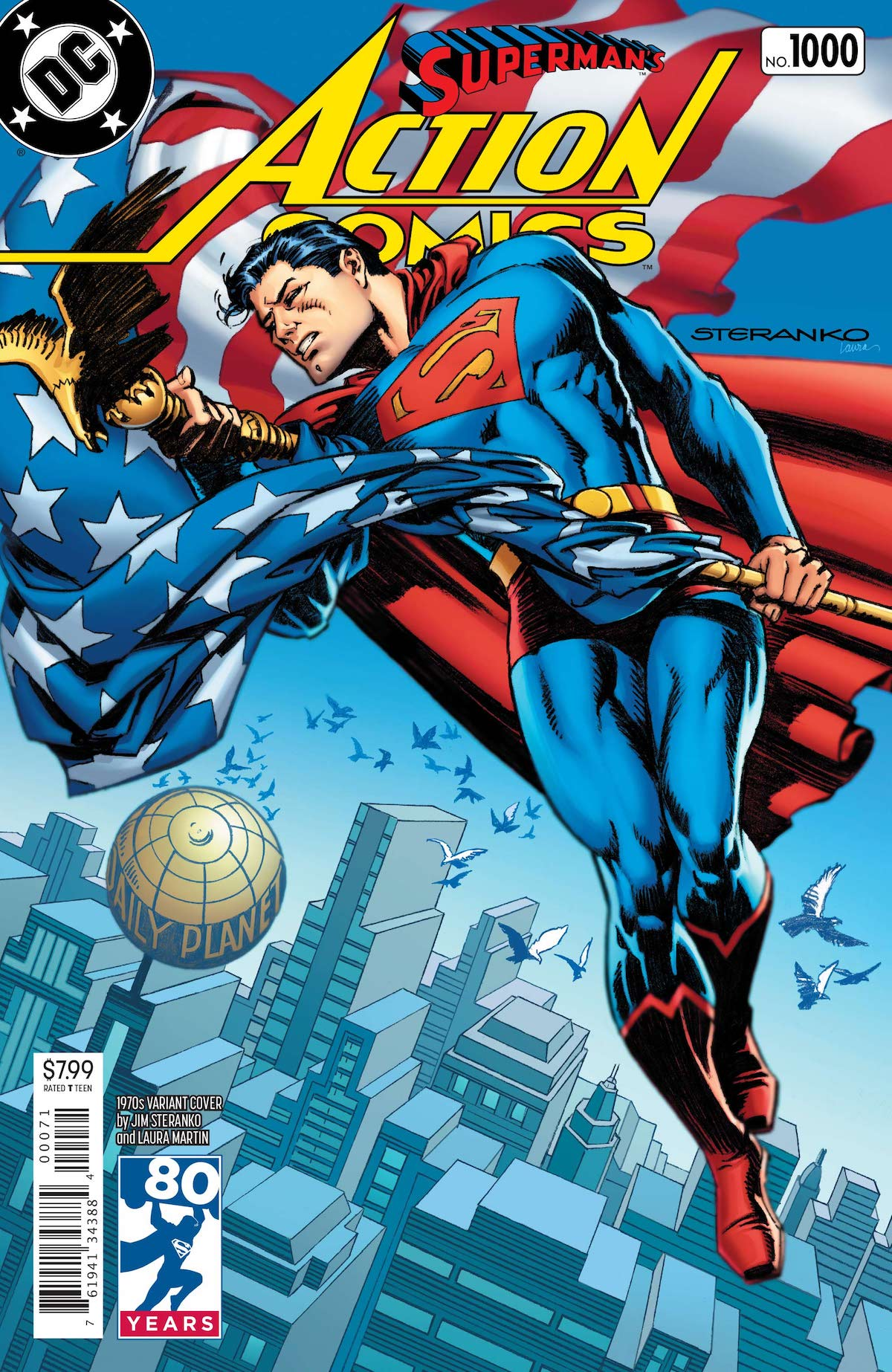 Action Comics 1,000 Jim Steranko variant