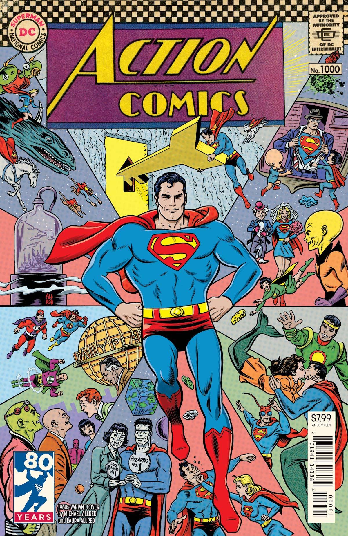 Action Comics 1,000 Michael Allred variant