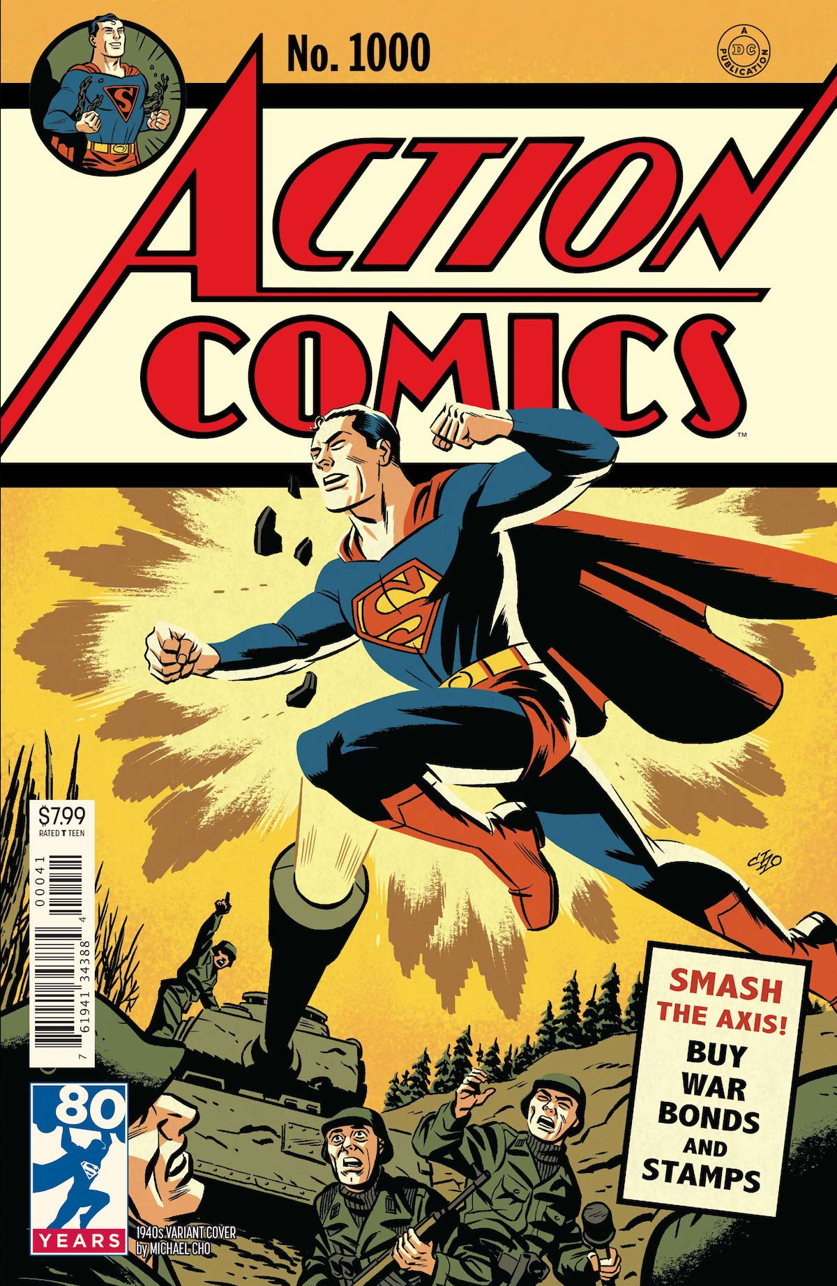 Action Comics 1000 variant cover Michael Cho