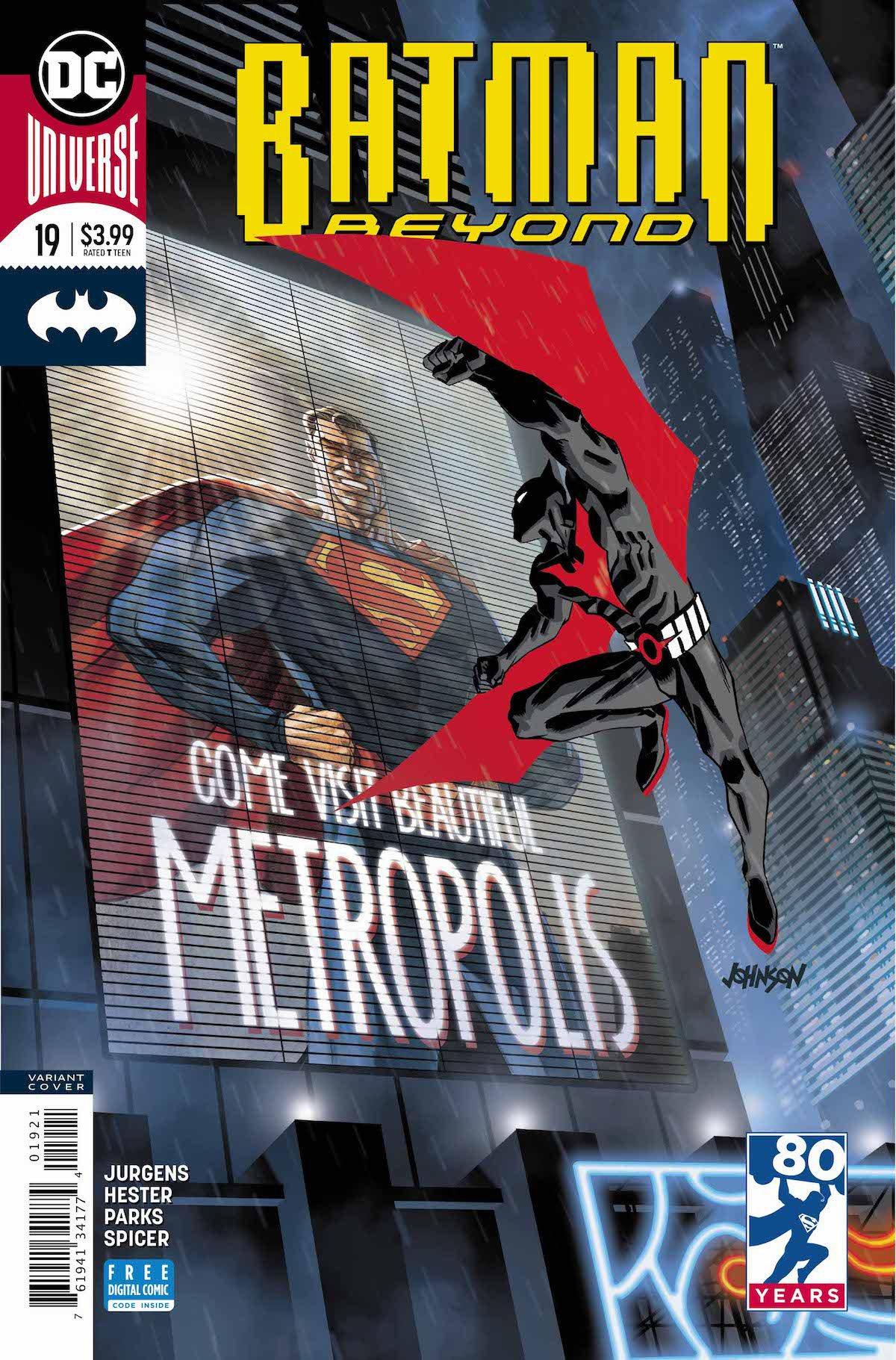 Batman Beyond #19 variant cover