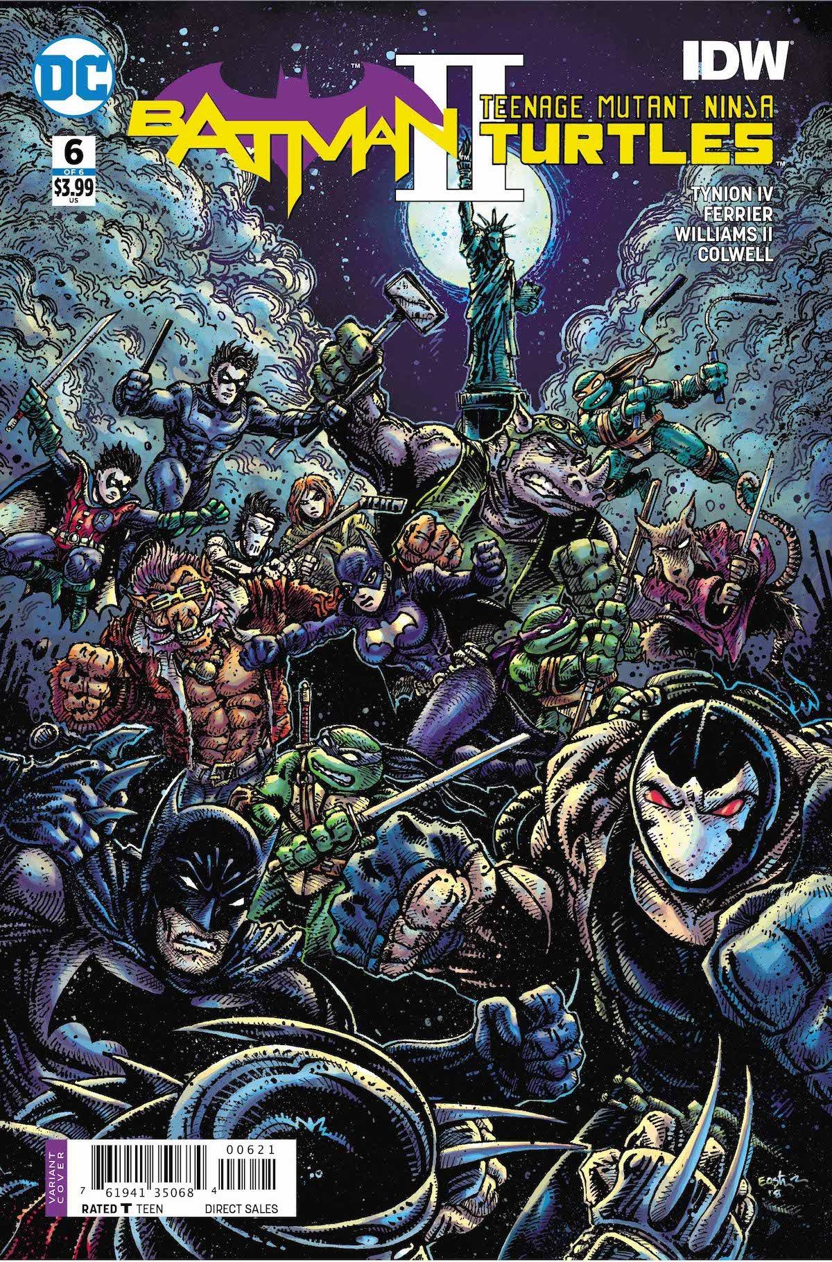 Batman Teenage Mutant Ninja Turtles 2 #6 cover