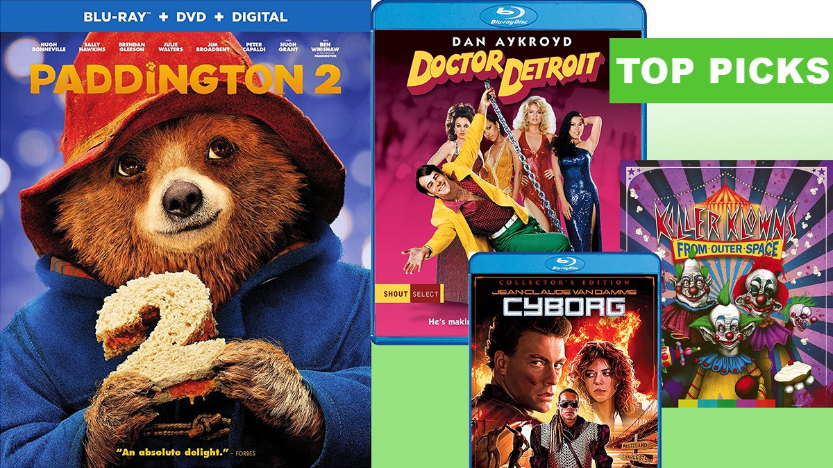 Top Blu-Ray releases for April 24, 2018: Paddington 2, Doctor Detroit, Cyborg, Killer Klowns from Outer Space