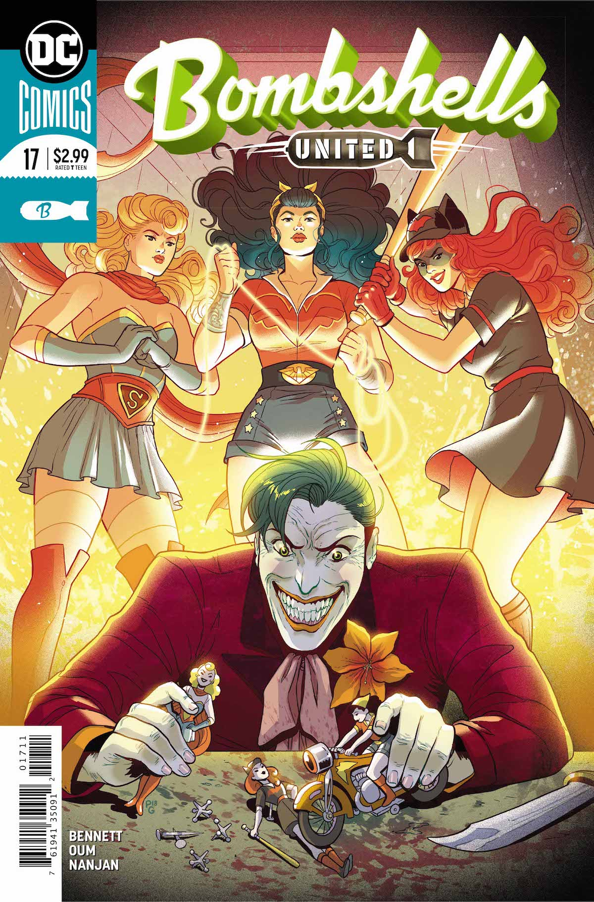 Bombshells United #17 cover
