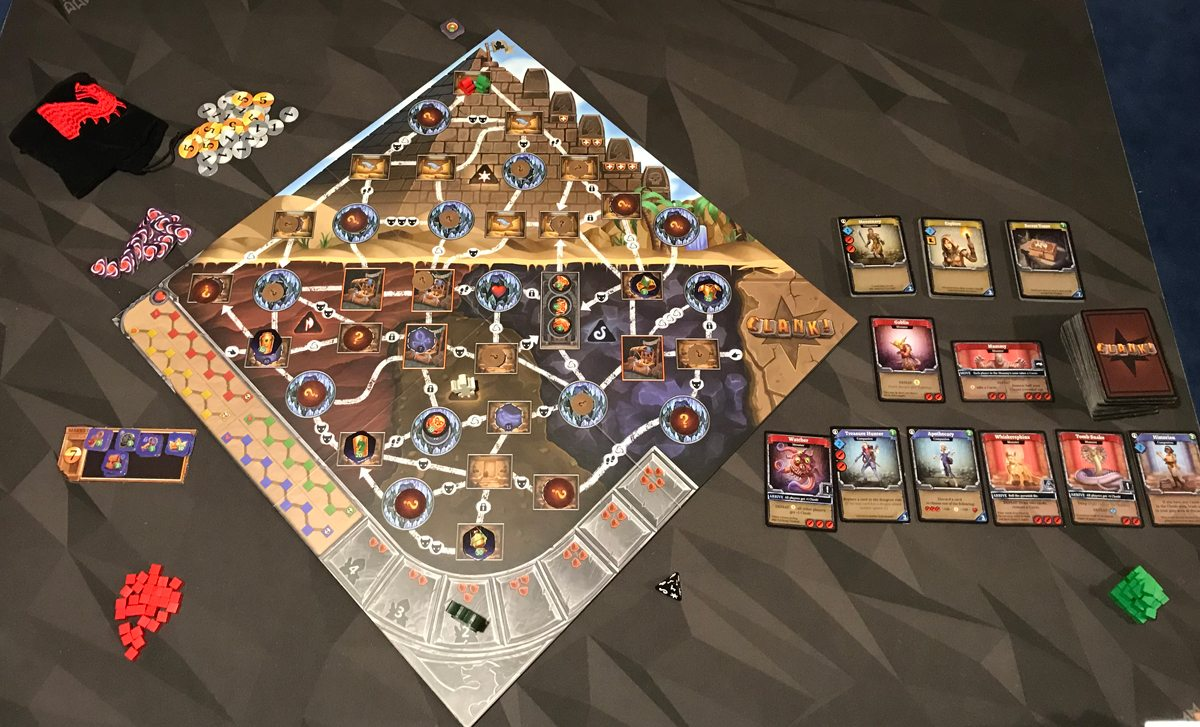 Clank! The Mummy's Curse 2-player setup