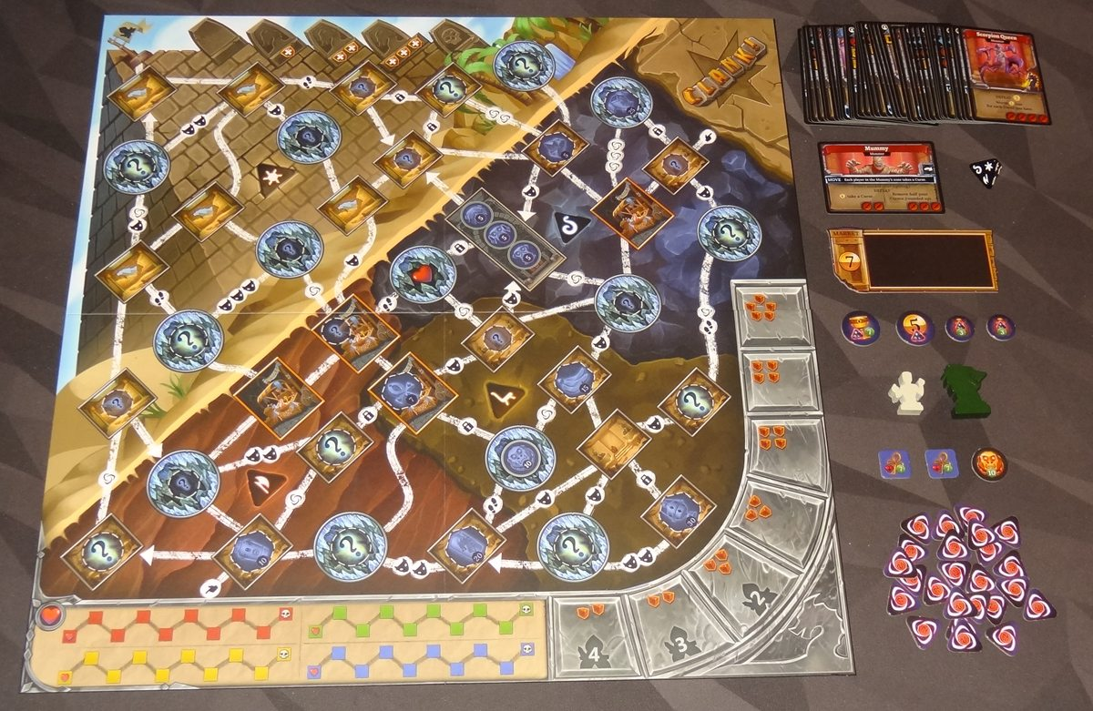 Clank! The Mummy's Curse components
