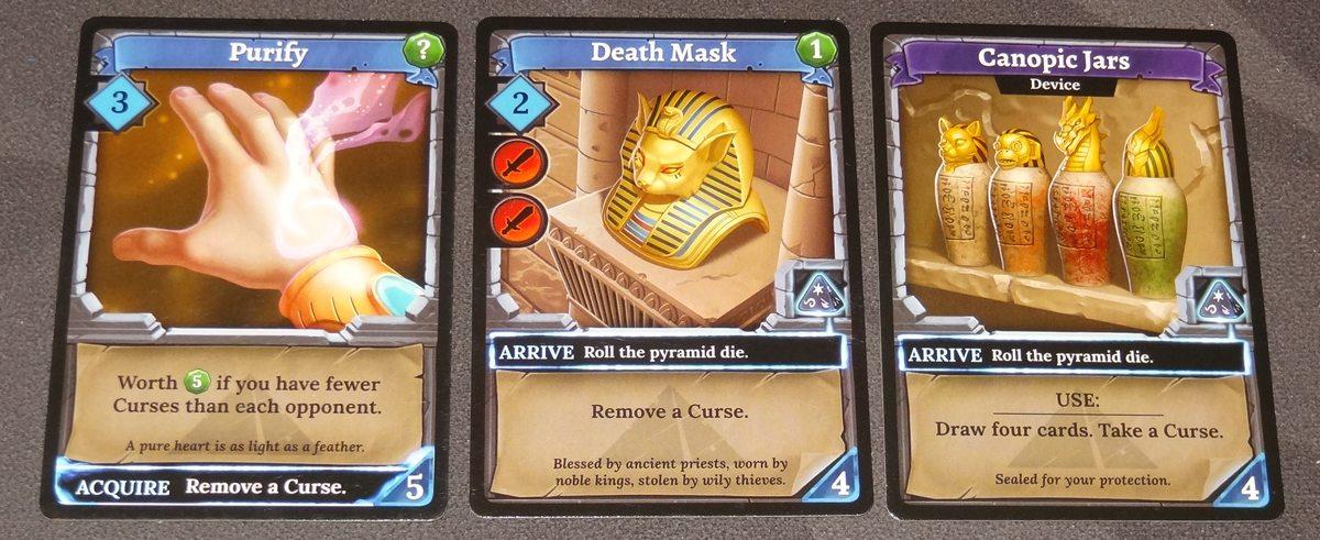 Clank! The Mummy's Curse cards
