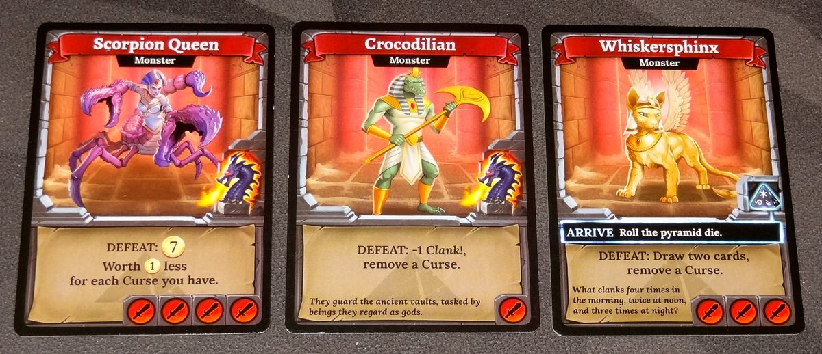 Clank! The Mummy's Curse monsters