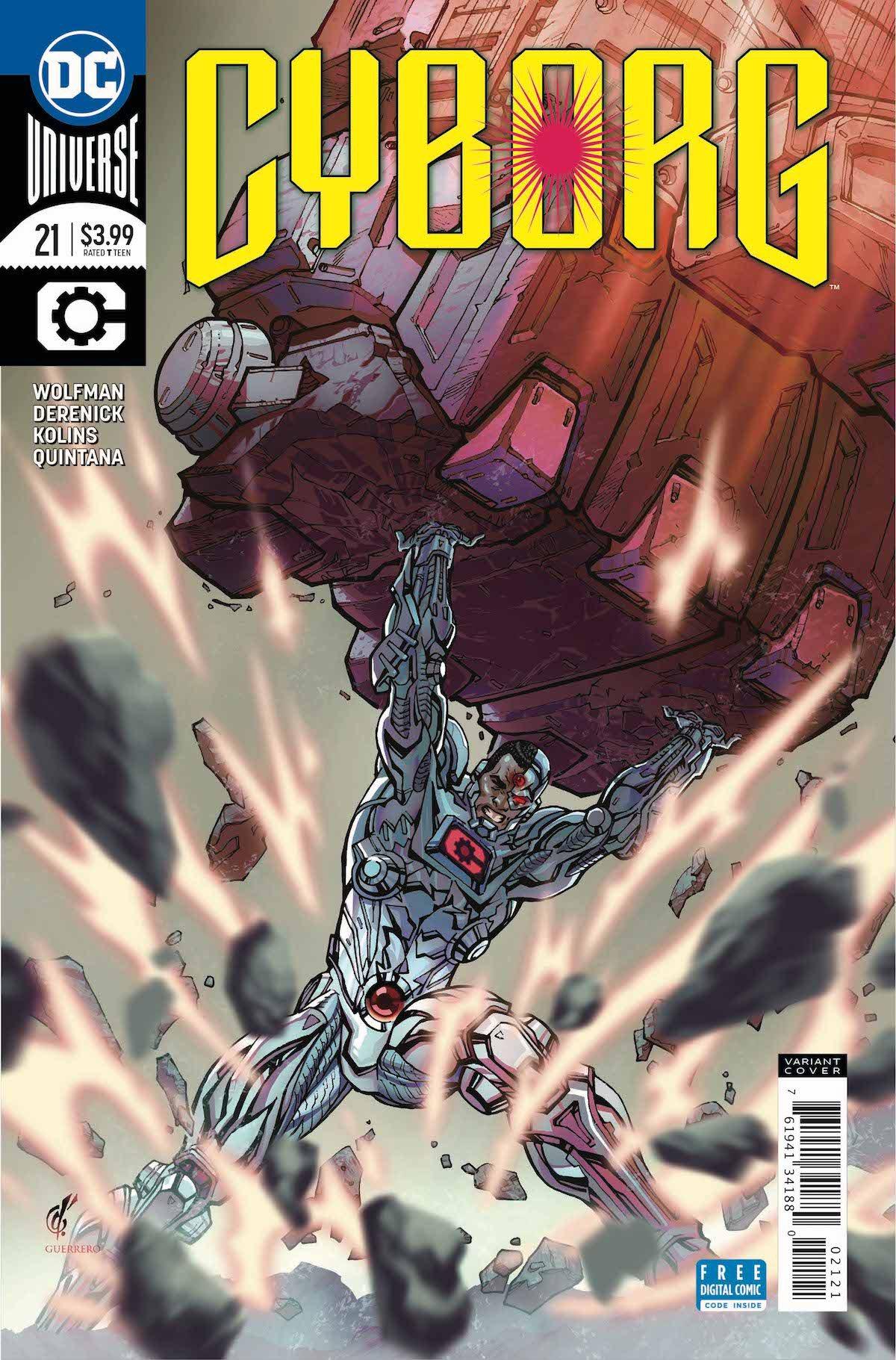 Cyborg #21 variant cover