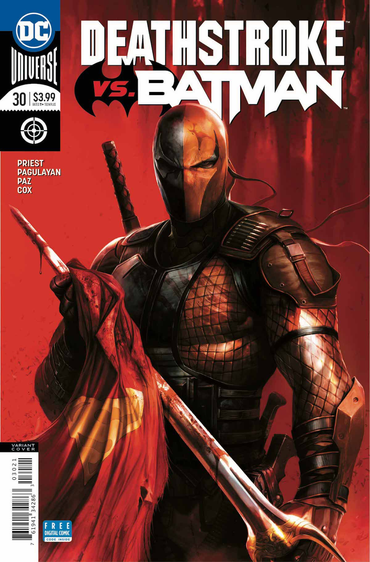 Deathstroke #30 variant cover