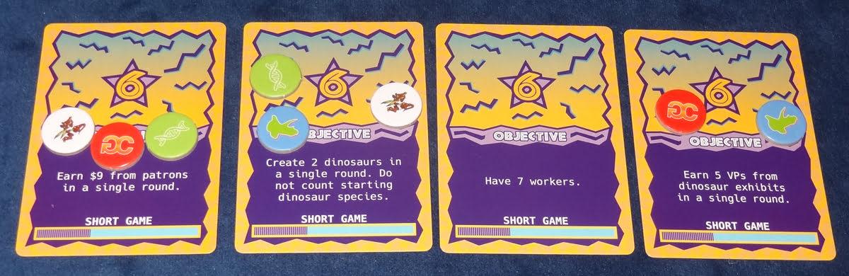 Dinosaur Island objective cards