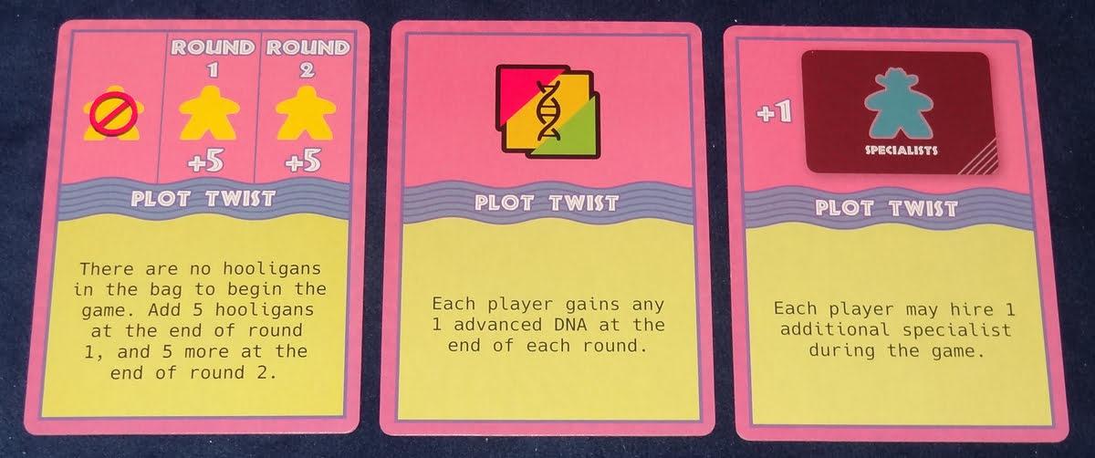Dinosaur Island plot twist cards