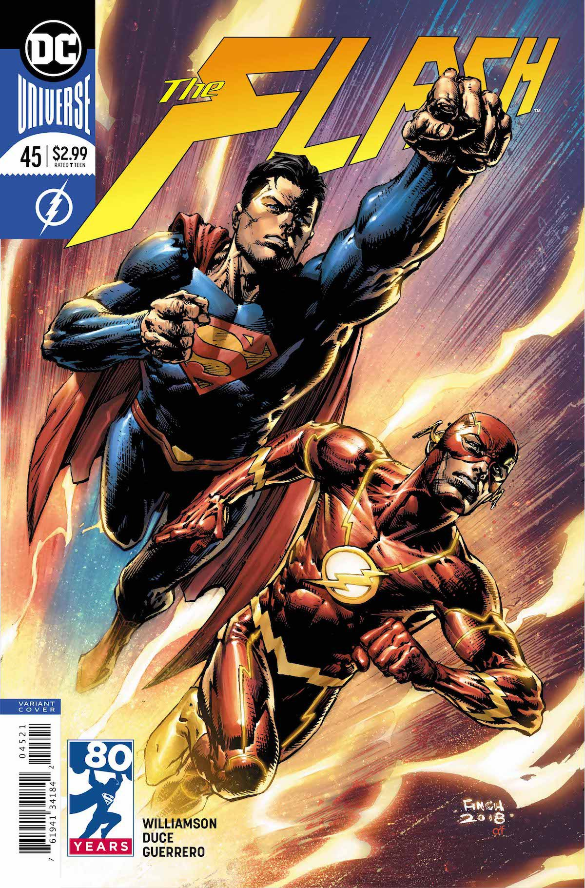 Flash #45 variant cover Superman
