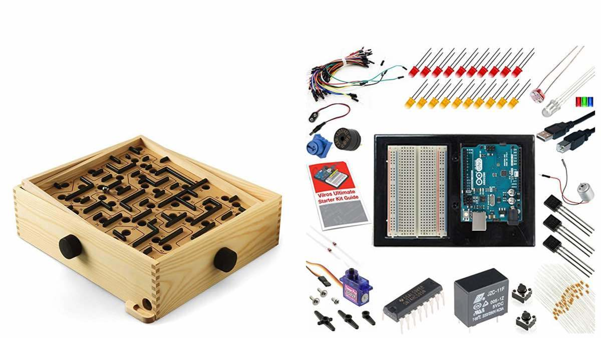 Geek Daily Deals 040518 labyrinth game arduino kit