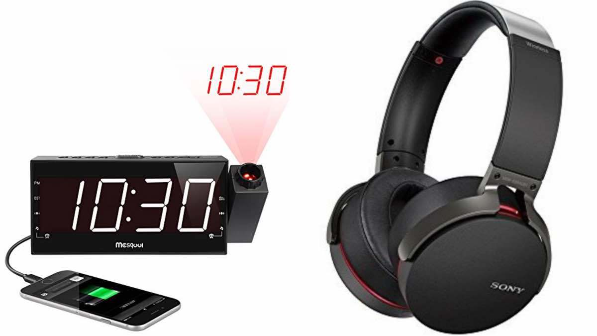 Geek Daily Deals 042218 projection bedside clock sony headphones