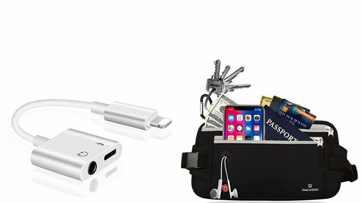 Geek Daily Deals 042418 iPhone lightning port splitter travel safety pouch