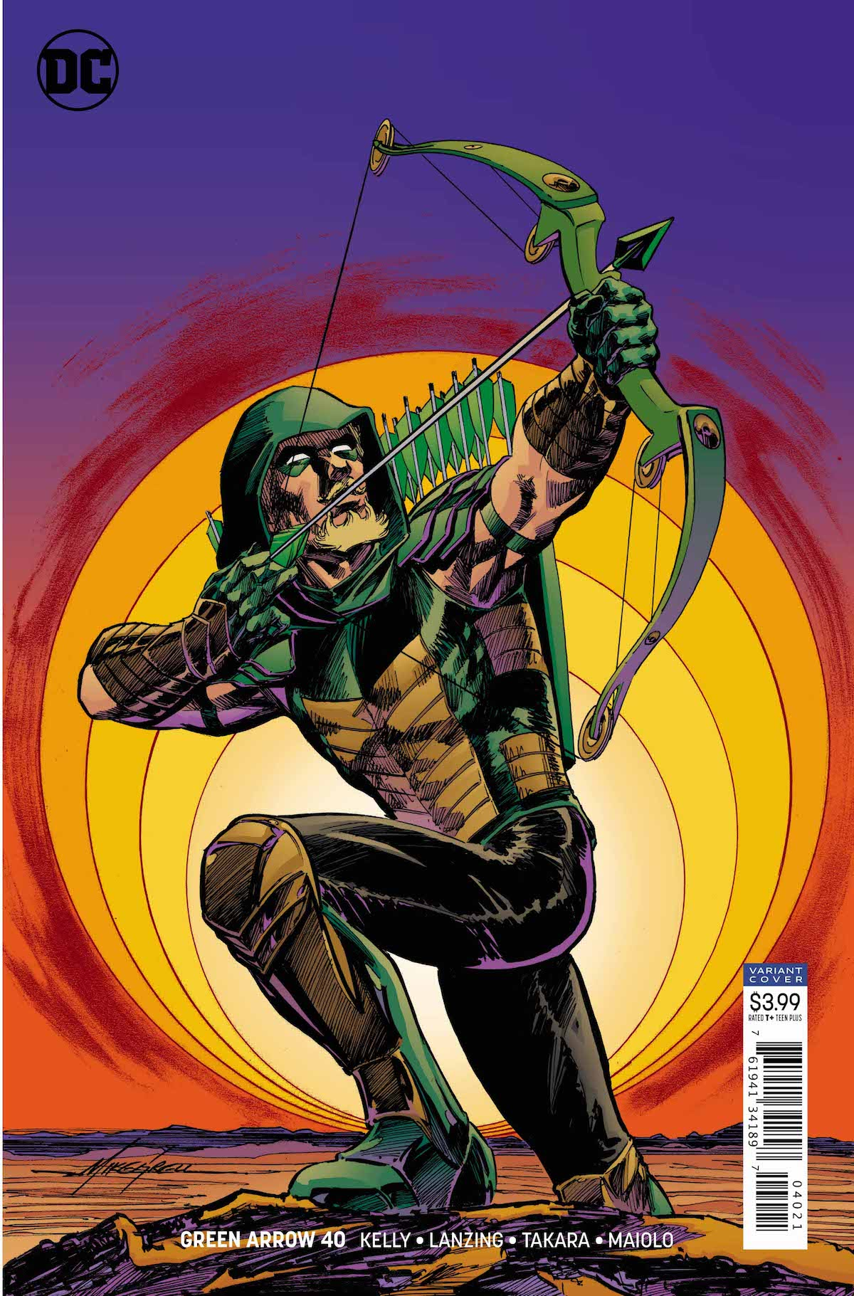 Green Arrow #40 variant cover (Grell)
