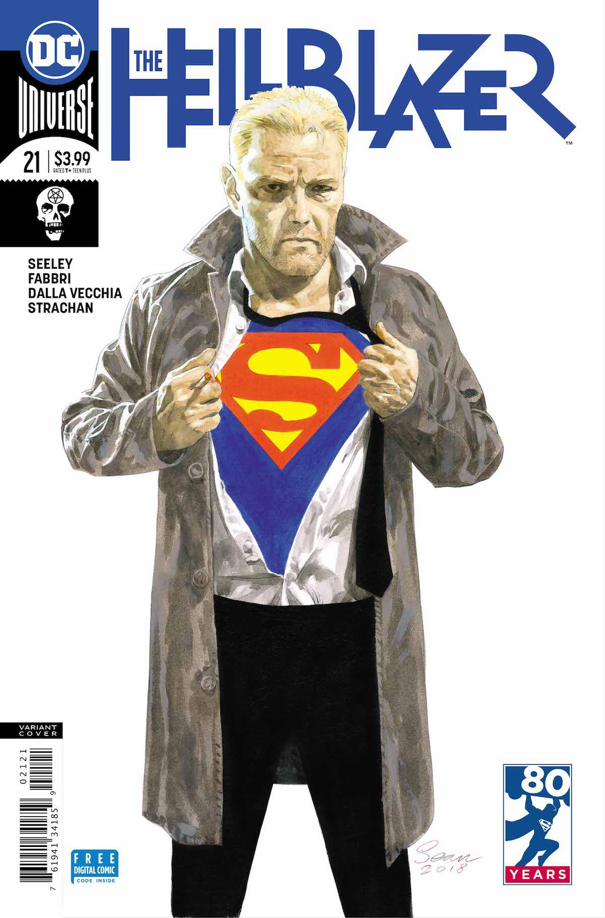 Hellblazer #21 Superman variant cover