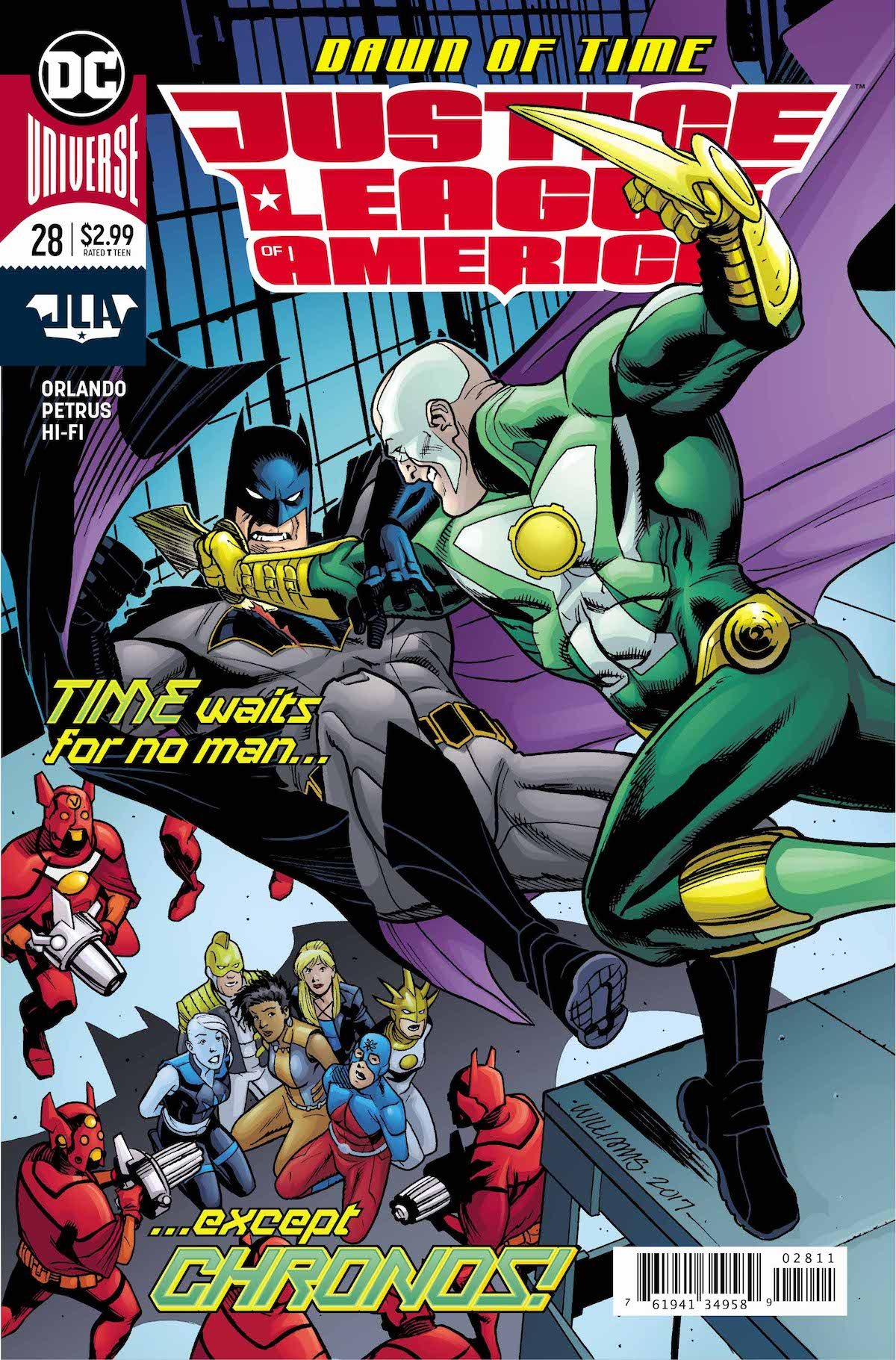 Justice League of America #28 cover